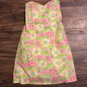 Vintage Lilly Pulitzer Strapless Dress - size 4